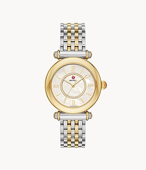 Caber Two-Tone 18k Gold Diamond Dial Watch
