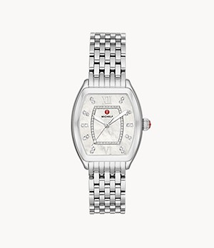 Revele Stainless Diamond Dial Watch