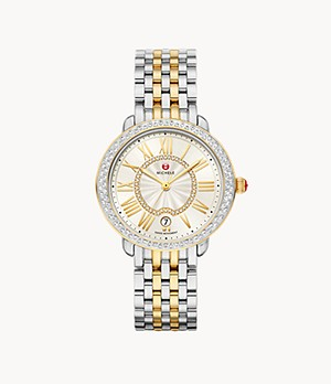 Serein Mid Two-Tone 18K Gold Diamond Watch