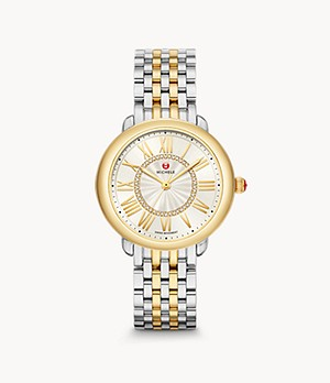 Serein Mid Two-Tone 18K Gold Diamond Dial Watch