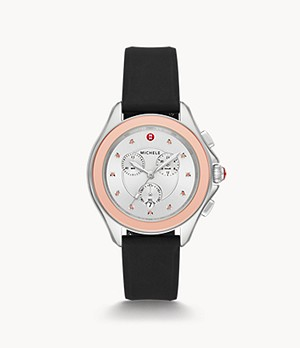 Montre topaze rose brume ton or rose Cape