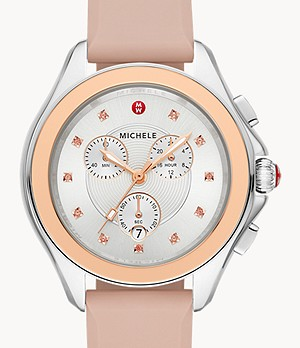 Cape Stainless Misty Rose Topaz Watch
