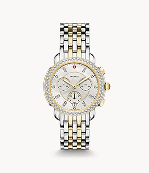 Sidney Diamond Two-Tone 18K Gold Diamond Dial Watch