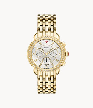 Sidney 18K Gold Diamond Watch