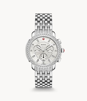 Sidney Stainless Diamond Watch With Diamond Bracelet