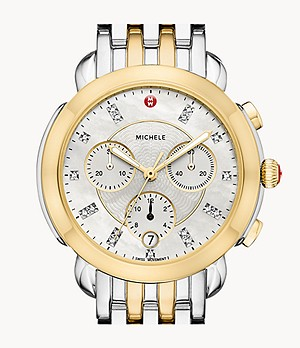 Sidney Two-Tone 18K Gold Diamond Dial Watch