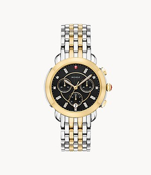 Sidney Two-Tone 18K Diamond Dial Watch