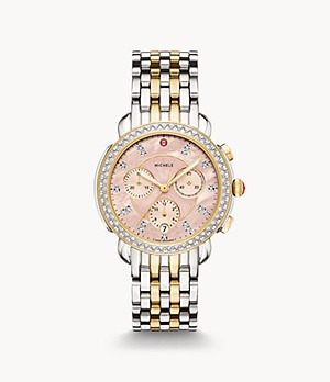 Sidney Two-Tone 18K Gold Diamond Watch