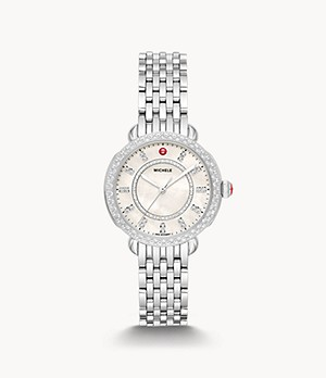 Sidney Classic Stainless Steel Diamond Watch