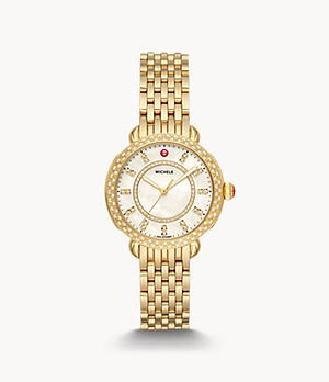 Sidney Classic 18K Gold Diamond Watch