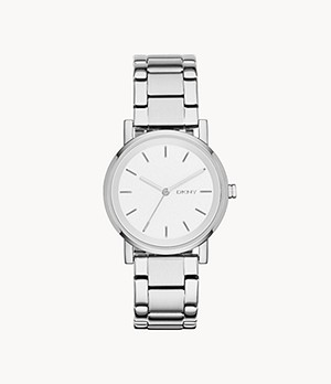 DKNY Stanhope Three-Hand Stainless Steel Watch