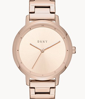DKNY Women's The Modernist Three-Hand Rose Gold-Tone Steel Watch
