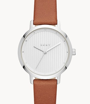 DKNY Women's Modernist Brown Leather Watch