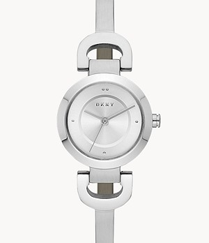 DKNY Women's City Link Three-Hand Steel Watch