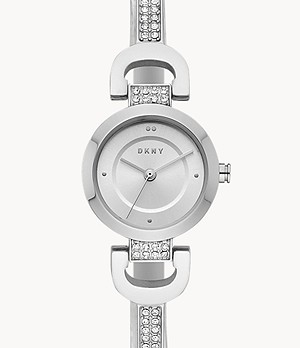 DKNY Women's City Link Three-Hand Stainless Steel Watch