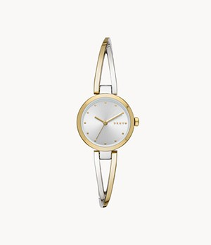 DKNY Women's Crosswalk Three-Hand Two-Tone Stainless Steel Watch