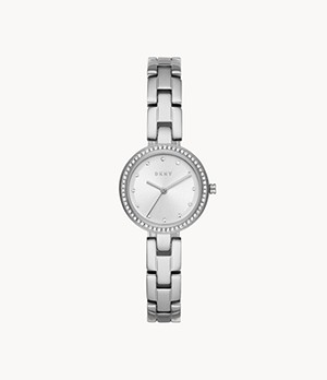 DKNY City Link Three-Hand Stainless Steel Watch