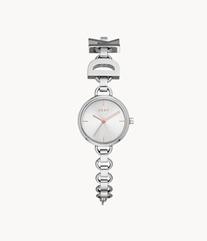 DKNY Soho Three-Hand Stainless Steel Watch