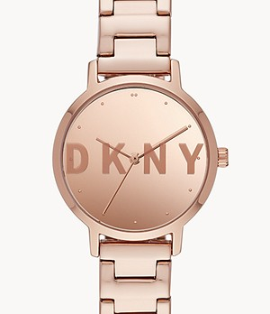 DKNY The Modernist Three-Hand Rose Gold-Tone Stainless Steel Watch