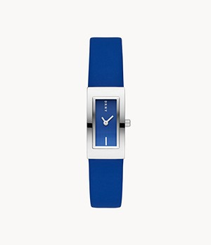 DKNY Downtown Two-Hand Blue Polyurethane Watch