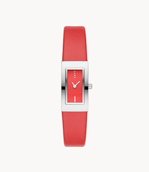 DKNY Downtown Two-Hand Red Polyurethane Watch