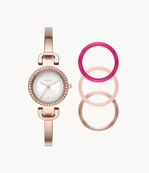 DKNY CityLink Watch and Toprings Set