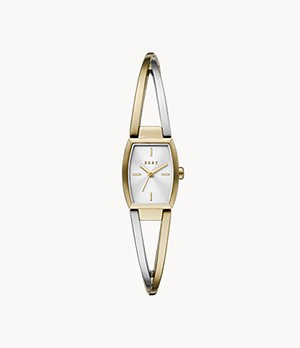 DKNY Crosswalk Three-Hand Two-Tone Stainless Steel Watch