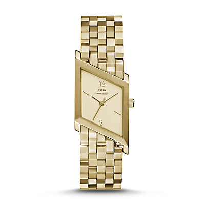 Fossil x Opening Ceremony Three-Hand Gold-Tone Stainless Steel Watch