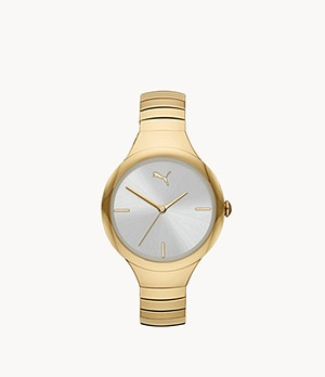 PUMA Contour Three-Hand Gold-Tone Stainless Steel Watch