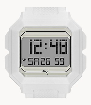 PUMA Remix LCD White Polyurethane Watch