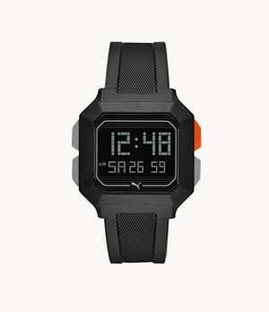 PUMA Remix LCD Black Polyurethane Watch