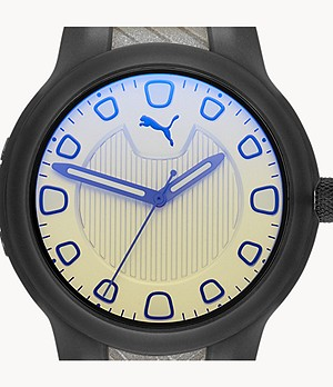 PUMA Reset V1 Three-Hand Two-Tone Polyurethane Watch