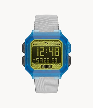 PUMA Remix LCD Two-Tone Polyurethane Watch