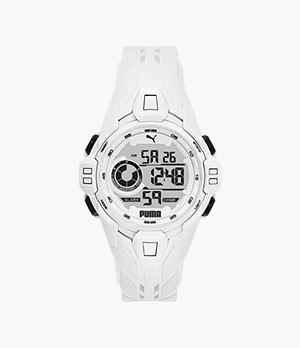 PUMA Bold LCD White Polyurethane Watch
