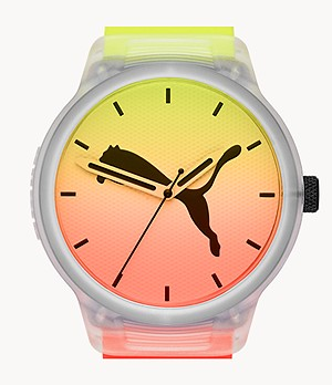 PUMA Reset V2 Three-Hand Multicolor Polyurethane Watch