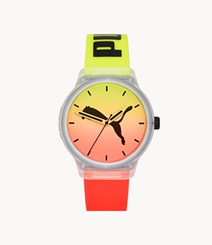 PUMA Reset V2 Three-Hand MultiColour Polyurethane Watch