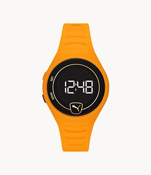 PUMA Forever Faster LCD Orange Polyurethane Watch