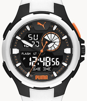 PUMA Bold Analog-Digital White Polyurethane Watch
