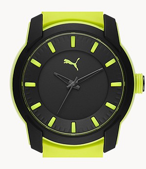 PUMA Analog Three-Hand Fizzy Silicone Watch