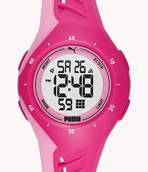 PUMA Digital Pink Polyurethane Watch