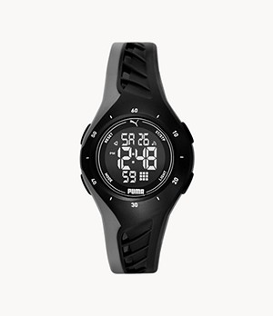 PUMA Digital Black Polyurethane Watch