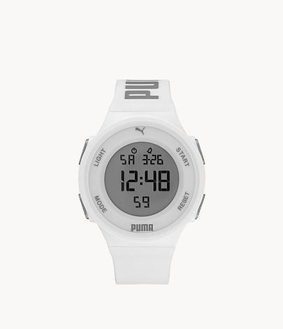 Montre LCD Puma 7 de PUMA en polyuréthane blanche