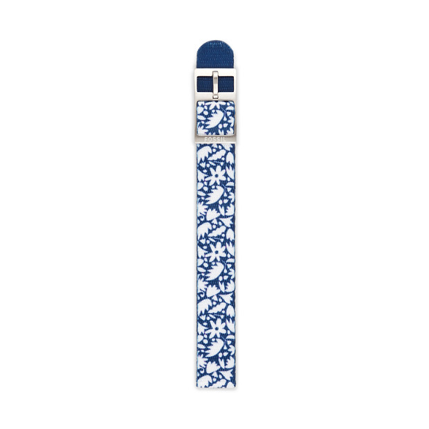 14mm Floral Polyester Watch Strap