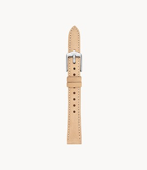Jacqueline 14 mm Light-Brown Leather Watch Strap