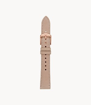 16 mm Blush Leather Strap