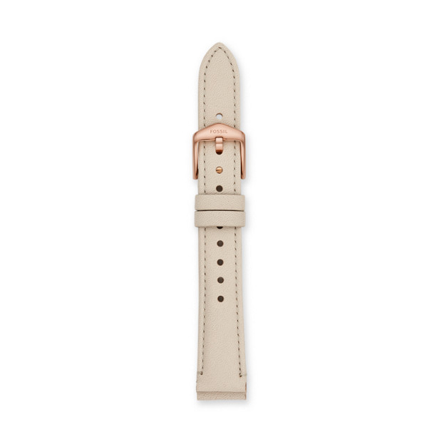 16mm Winter White Leather Strap by Fossil