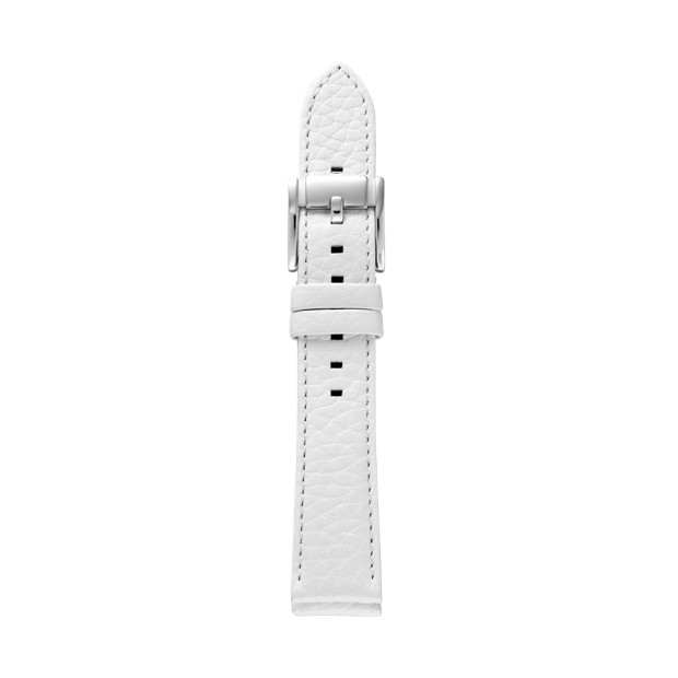 Leather 18mm Watch Strap - White