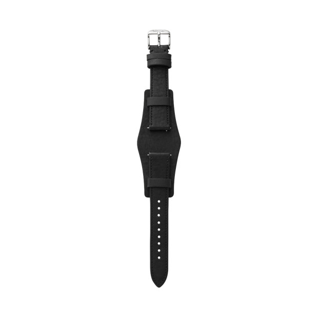 Heirloom Leather 18mm Watch Strap - Black