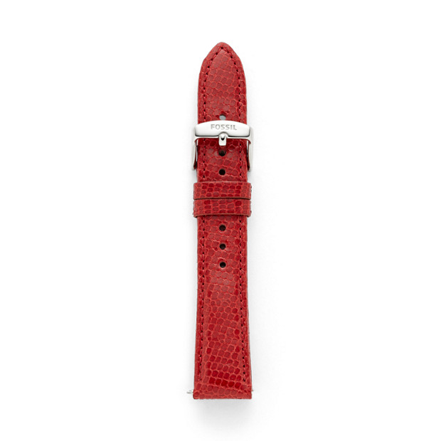 Leather Watch Strap - Red Lizard