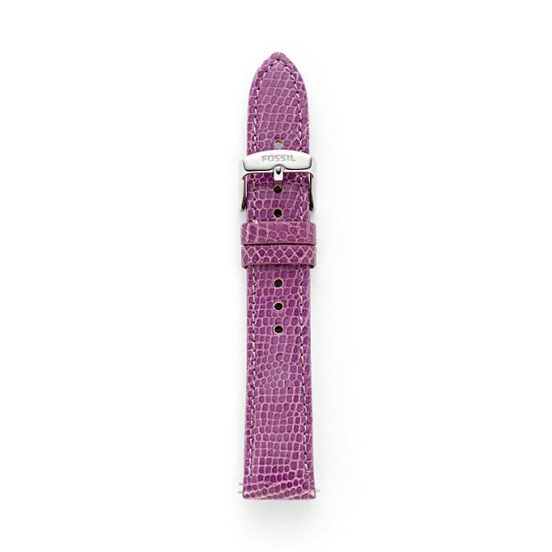 Leather Watch Strap - Purple Lizard